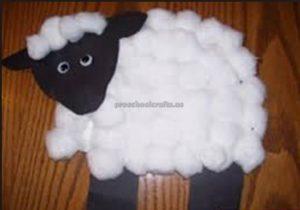 sheep craft idea for children