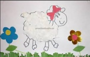 sheep craft idea for firstgrade