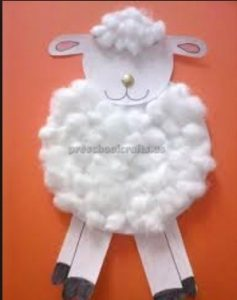 sheep craft idea for kindergarten