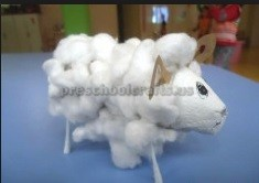 sheep craft idea for pre school