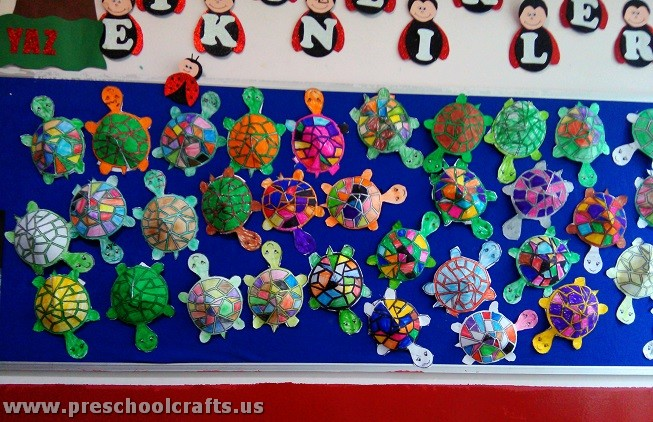 Calendar Games For Kindergarten : Paper turtle crafts for kids preschool and kindergarten