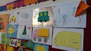 vehicles bulletin board for 1st grade