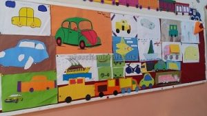 vehicles bulletin board for first grade