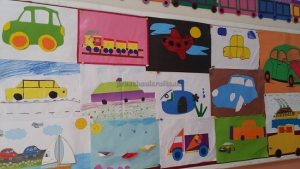 vehicles bulletin board for preschool