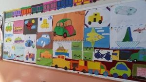 vehicles bulletin board ideas for kindergarten