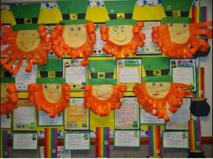 Bulletin Board related to Saint Patrick's Day