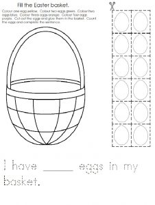 Happy Easter Worksheet for Preschool Cut and Paste