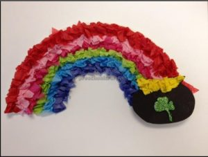Happy St. Patrick's Day Rainbow craft