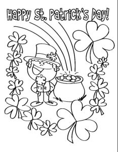 Happy St. Patrick's Day coloring pages for preschooler