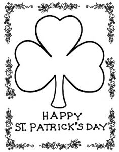 Happy St. Patrick's Day coloring pages for toddler