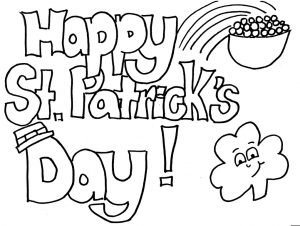 Happy St. Patrick's Day printable coloring pages