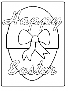 Happy easter coloring pages for kindergarten