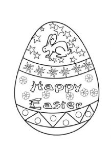 Holiday Coloring Pages related to happy easter