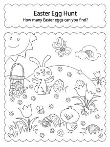 How Many Easter Eggs Can You Find Worksheet for Preschool