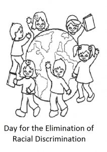 International Day for the Elimination of Racial Discrimination coloring pages