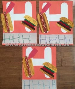 Letter H is for hamburger