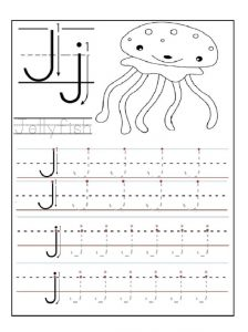 letter j worksheets letter j worksheet for kindergarten preschool and 1 st 10784