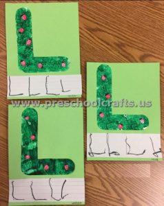 Letter L is for ladybug