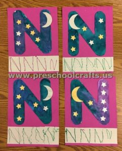 Letter N is for night