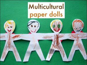 Racial Discrimination, multicultural paper dolls Crafts, Art and Activities