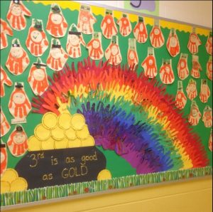 Rainbow - gold - saint patricks day bulletin board ideas
