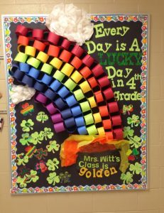 Saint Patrick's Day Bulletin Board for 4th grade