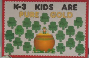 Saint Patrick's Day Bulletin Board for Kindergarten