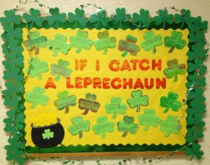 Saint Patrick's Day Bulletin Board for Preschool