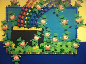 Saint Patrick's Day Rainbow Bulletin Board Ideas for Preschool