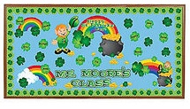 Saint Patrick's Day Rainbow Bulletin Board