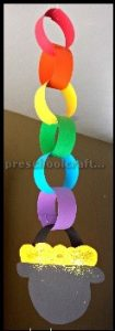 St. Patrick's Day Rainbow craft ideas for kindergarten students