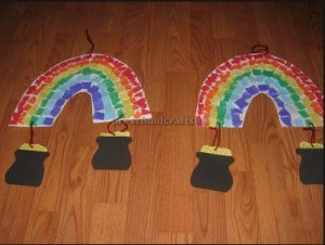St. Patrick's Day Rainbow craft ideas for preschool