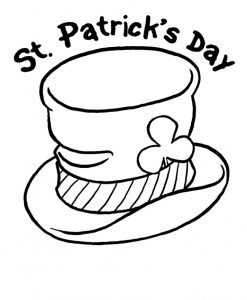St. Patrick's Day coloring pages for kindergarten-free printable
