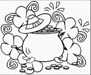 St. Patrick's Day coloring pages for preschool-gold colouring