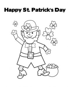 St. Patrick's Day coloring pages for primary school free printable