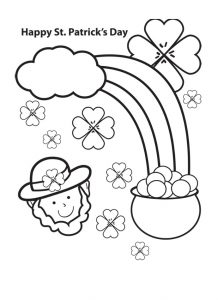 St. Patrick's Day free coloring pages for preschool
