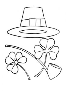 St. Patrick's Day free printable coloring pages for kindergarten