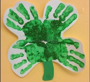 St. Patrick's Day handprint craft ideas for kindergarten
