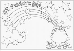 St. Patrick's Day rainbow coloring pages for preschooler
