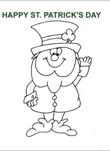 St. Patrick's Day rainbow coloring pages for preschoolers
