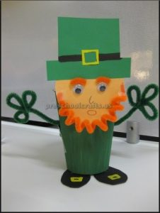 St. Patrick's Day toilet paper craft ideas for preschool