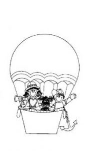aerostat coloring pages for preschool and kindergarten