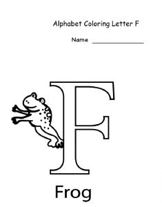 alphabet coloring letter f for preschool