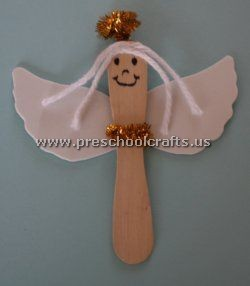 angle popsicle stick craft idea