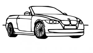 bmw car coloring pages for kindergarten and preschool