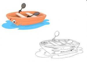 boat coloring pages for kindergarten and preschool