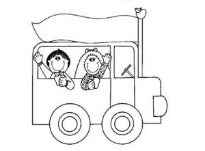 bus coloring pages for preschool