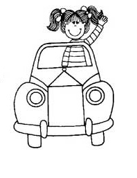 car coloring pages for preschool
