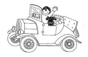car coloring pages free printable for preschool