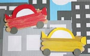 car popsicle stick craft for kids